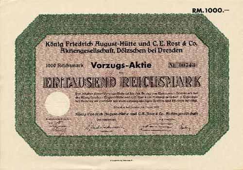 König Friedrich August-Hütte und C. E. Rost & Co.