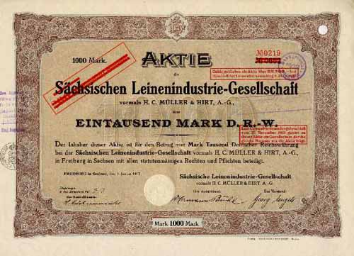 Sächsische Leinenindustrie-Gesellschaft vorm. H. C. Müller & Hirt