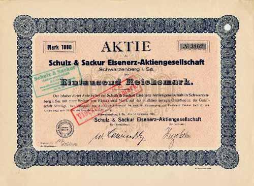 Schulz & Sackur Eisenerz-AG