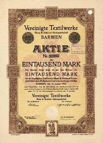 Vereinigte Textilwerke Mann & Reinhard