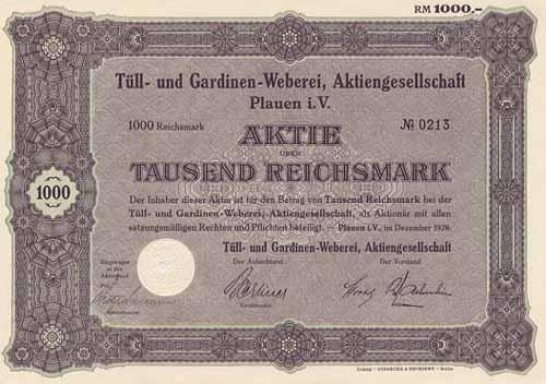 Tüll- und Gardinen-Weberei
