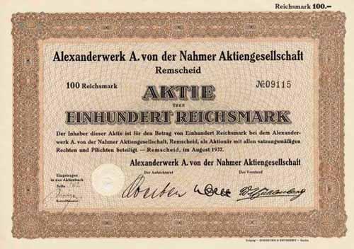 Alexanderwerk A. von der Nahmer