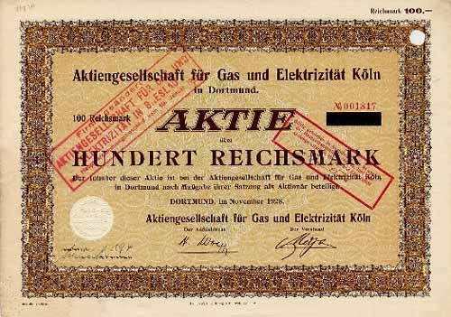AG für Gas und Elektrizität Köln