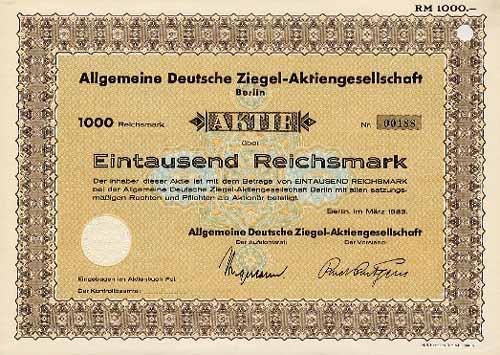 Allgemeine Deutsche Ziegel-AG