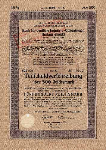Bank für deutsche Industrie-Obligationen (Industriebank)