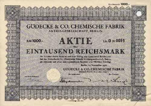 Gödecke & Co. Chemische Fabrik