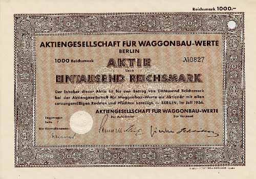 AG für Waggonbau-Werte