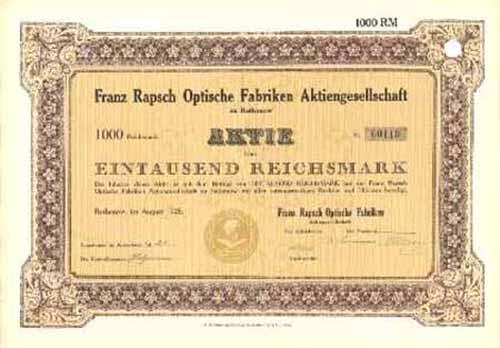 Franz Rapsch Optische Fabriken
