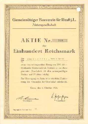 Gemeinnütziger Bauverein für Reuß j.L.