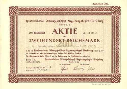 Handwerksbau Regierungsbezirk Merseburg
