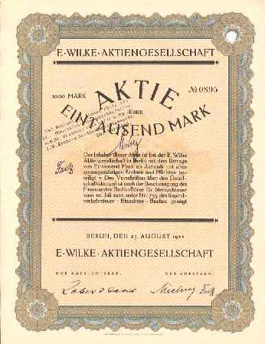 E. Wilke