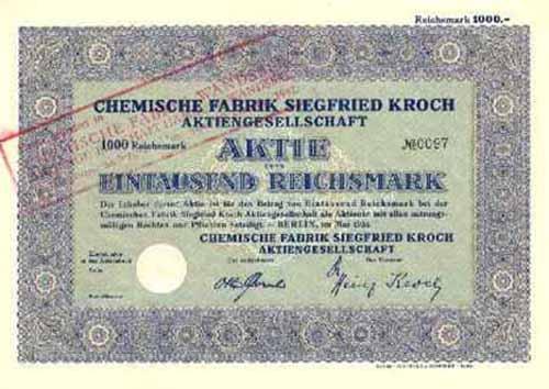 Chemische Fabrik Siegfried Kroch