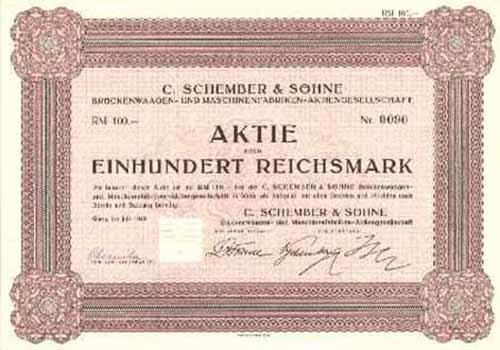 C. Schember & Söhne Brückenwaagen- und Maschinenfabriken-AG