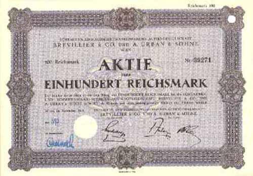 Schrauben- und Schmiedewaarenfabriks-AG Brevillier & Co. und A. Urban & Söhne