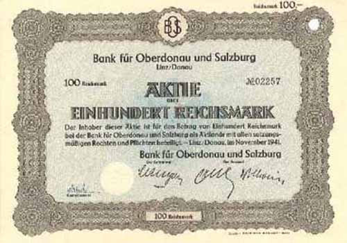 Bank für Oberdonau und Salzburg