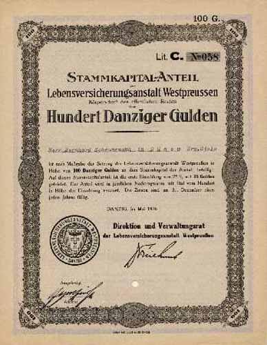 Lebensversicherungsanstalt Westpreussen