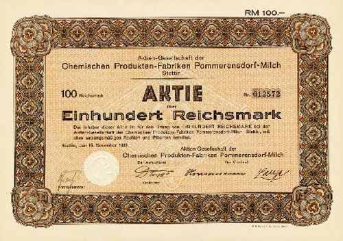 AG der Chemischen Produkten-Fabriken Pommerensdorf-Milch