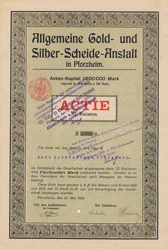 Allgemeine Gold- und Silber-Scheide-Anstalt