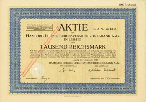 Hamburg Leipzig Lebensversicherungsbank