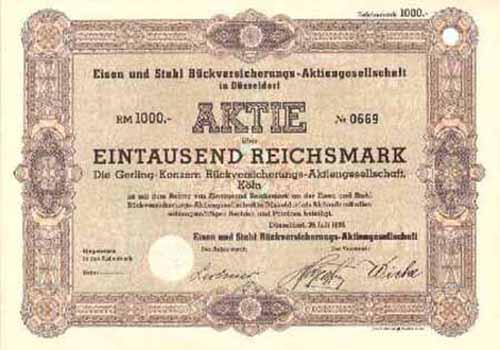Eisen und Stahl Rückversicherungs-AG