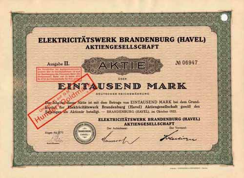 Elektricitätswerk Brandenburg (Havel)
