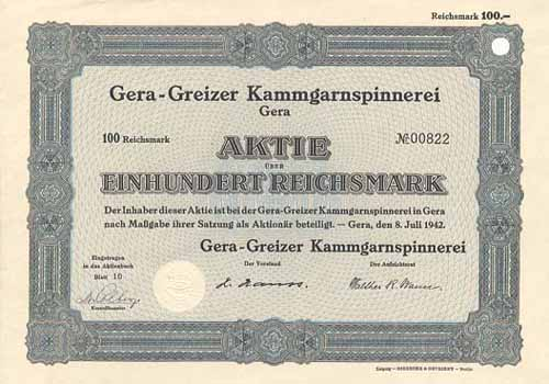 Gera-Greizer Kammgarnspinnerei