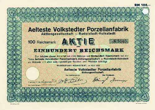 Aelteste Volkstedter Porzellanfabrik