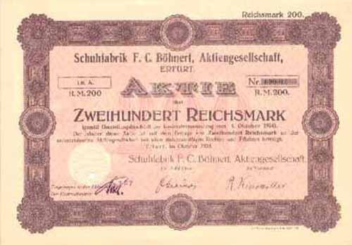 Schuhfabrik F. C. Böhnert