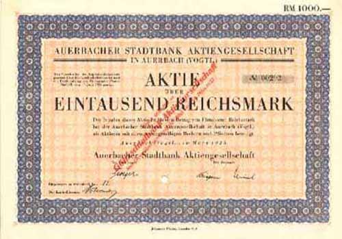 Auerbacher Stadtbank