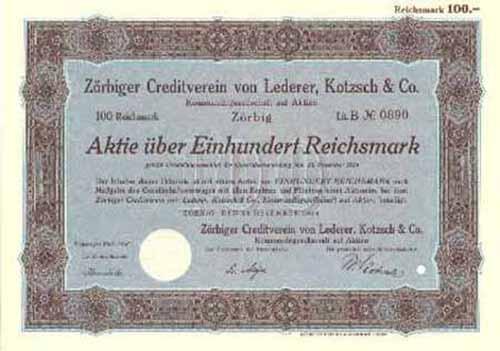 Zörbiger Creditverein von Lederer, Kotzsch & Co.