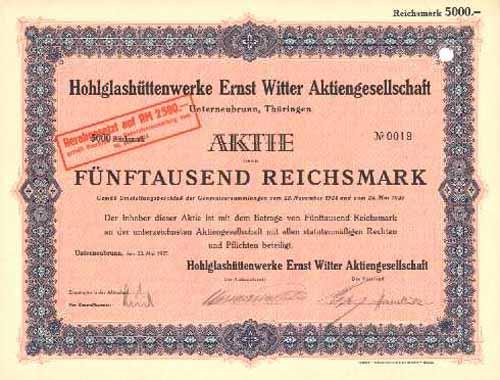 Hohlglashüttenwerke Ernst Witter