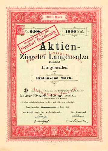 Aktien-Ziegelei Langensalza