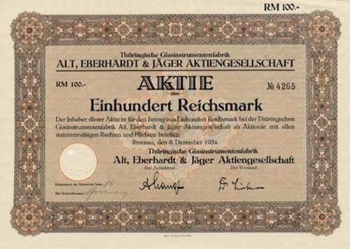 Thüringische Glasinstrumentenfabrik Alt, Eberhardt & Jäger