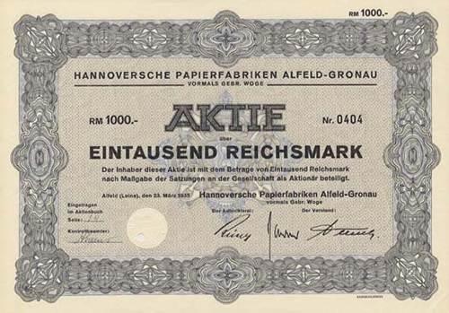 Hannoversche Papierfabriken Alfeld-Gronau vormals Gebr. Woge