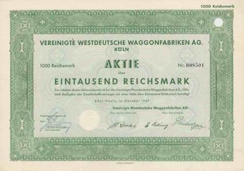 Vereinigte Westdeutsche Waggonfabriken