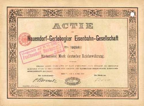 Nauendorf-Gerlebogker Eisenbahn-Gesellschaft