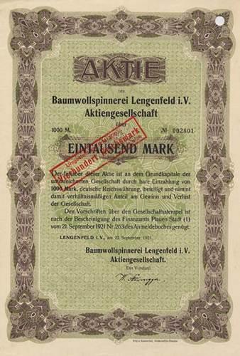 Baumwollspinnerei Lengenfeld i. V.