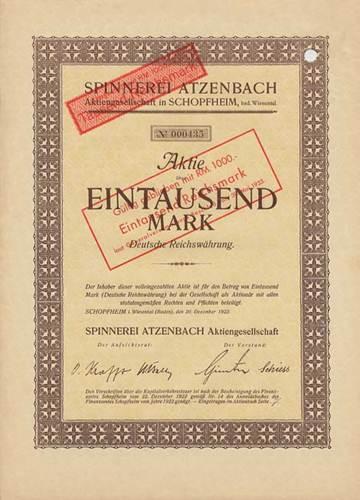 Spinnerei Atzenbach