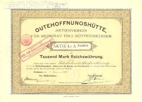 Gutehoffnungshütte, Aktienverein für Bergbau und Hüttenbetrieb