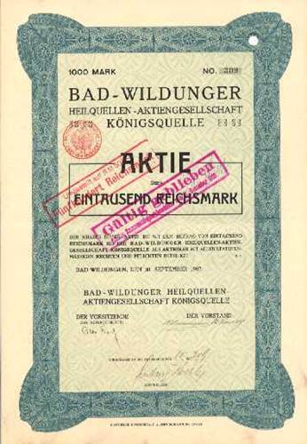 Bad-Wildunger Heilquellen-AG Königsquelle