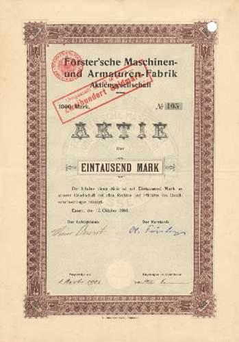 Förster'sche Maschinen- und Armaturen-Fabrik