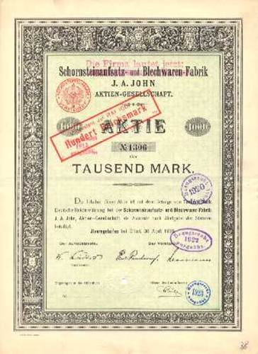 Schornsteinaufsatz- und Blechwarenfabrik J. A. John