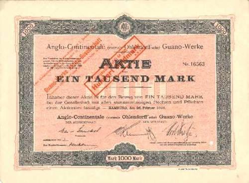 Anglo-Continentale (vormals Ohlendorff'sche) Guano-Werke