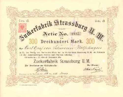 Zuckerfabrik Strassburg U. M.