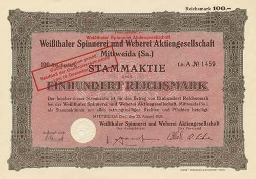 Weißthaler Spinnerei und Weberei