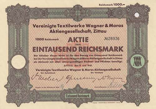 Vereinigte Textilwerke Wagner & Moras