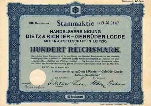Handelsvereinigung Dietz & Richter - Gebrüder Lodde