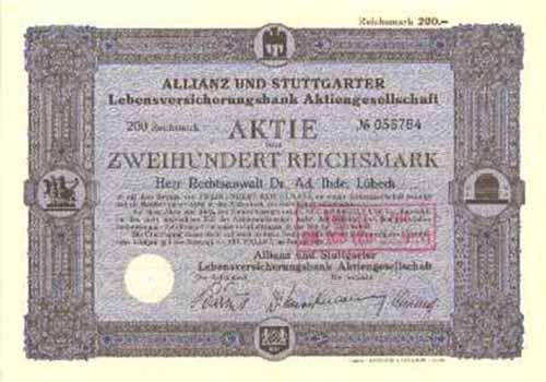 Allianz und Stuttgarter Verein Versicherungs-AG