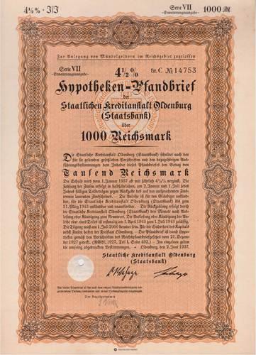 Staatliche Kreditanstalt Oldenburg (Staatsbank)