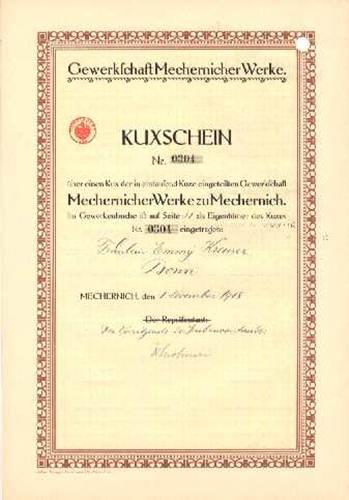 Gewerkschaft Mechernicher Werke